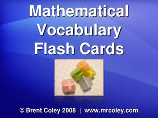 Mathematical Vocabulary Flash Cards