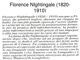 Florence NIghtingale 1820-1910