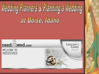 Planning a Wedding Boise