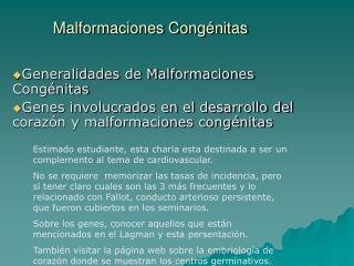 Malformaciones Cong nitas