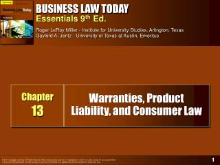 Warranties, Product Liability, and Consumer Law
