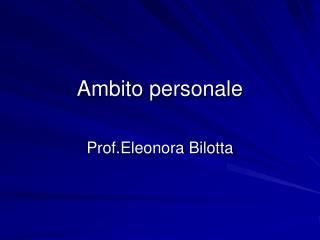 Ambito personale