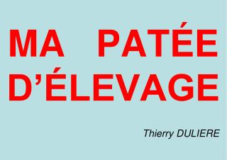 MA   PAT E D  LEVAGE