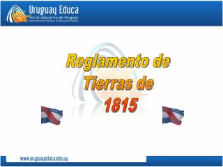 Reglamento de  Tierras de  1815