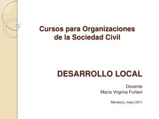 Cursos para Organizaciones de la Sociedad Civil