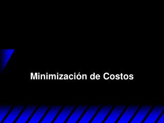Minimizaci n de Costos