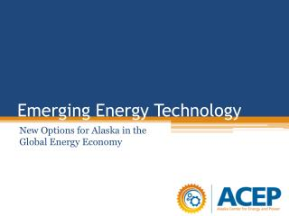 Emerging Energy Technology