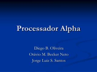 Processador Alpha