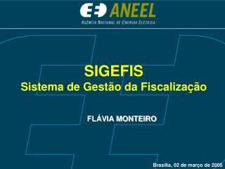 SIGEFIS  Sistema de Gest o da Fiscaliza  o