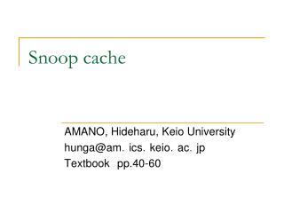 Snoop cache