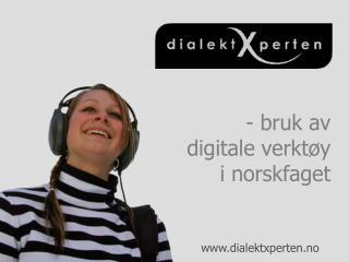 - bruk av  digitale verkt y i norskfaget
