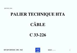 PALIER TECHNIQUE HTA  C BLE  C 33-226
