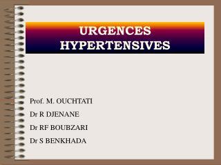 URGENCES  HYPERTENSIVES
