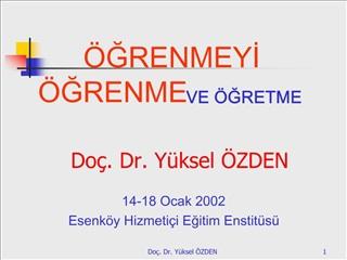 Do . Dr. Y ksel  ZDEN