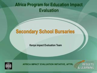 Secondary School Bursaries