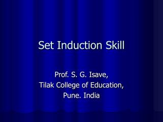 Set Induction Skill