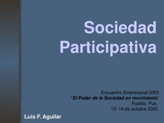 Sociedad Participativa