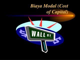 Biaya Modal Cost of Capital