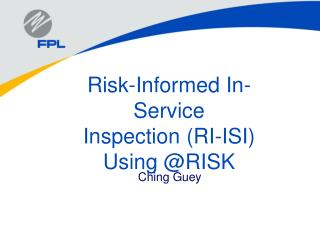 Risk-Informed In-Service Inspection RI-ISI Using RISK