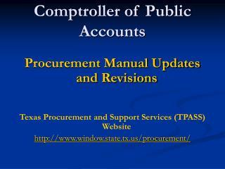 Comptroller of Public Accounts