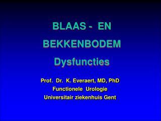 BLAAS -  EN BEKKENBODEM Dysfuncties