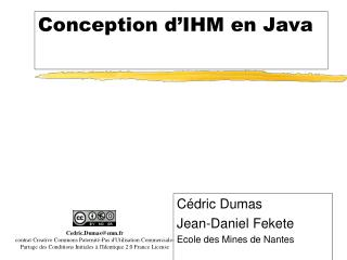 Conception d IHM en Java