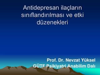 Antidepresan ila larin siniflandirilmasi ve etki d zenekleri