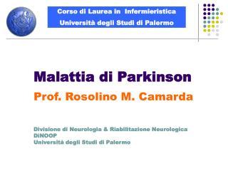 Malattia di Parkinson  Prof. Rosolino M. Camarda    Divisione di Neurologia  Riabilitazione Neurologica DiNOOP Universit