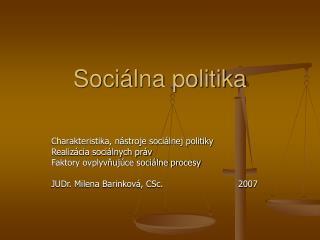 Soci lna politika