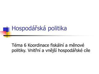 Hospod rsk  politika