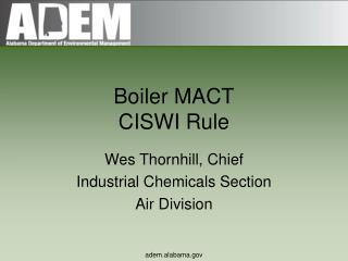 Boiler MACT CISWI Rule