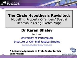 The Circle Hypothesis Revisited: Modelling Property Offenders  Spatial Behaviour Using Sketch Maps