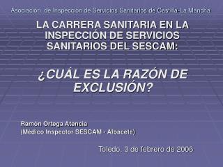 Asociaci n  de Inspecci n de Servicios Sanitarios de Castilla-La Mancha