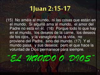 1Juan 2:15-17