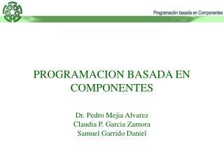 PROGRAMACION BASADA EN COMPONENTES  Dr. Pedro Mejia Alvarez Claudia P. Garcia Zamora Samuel Garrido Daniel