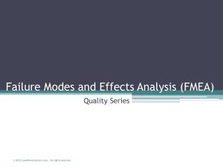 Failure Modes and Effects Analysis FMEA   Superfactory Excellence Program  superfactory