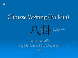 Chinese Writing Pa Kua