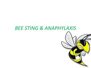 BEE STING  ANAPHYLAXIS