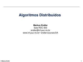 Algoritmos Distribu dos
