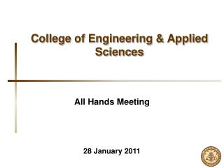 College of Engineering  Applied Sciences