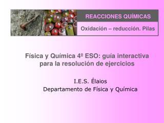 F sica y Qu mica 4  ESO: gu a interactiva para la resoluci n de ejercicios