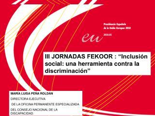 PRESIDENCIA ESPA OLA :  Presentaci n del Plan extraordinario de fomento de la inclusi n social y la lucha contra la pobr