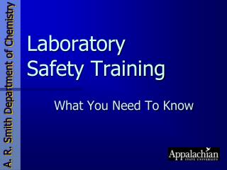Laboratory Safety Training
