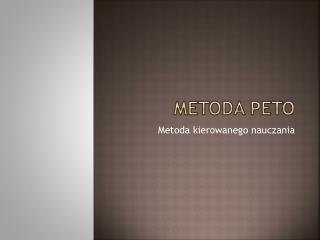 Metoda Peto