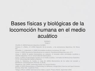 Bases f??sicas y biol??gicas