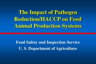 The Impact of Pathogen Reduction