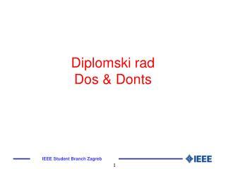 Diplomski rad Dos  Donts