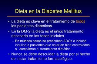 Dieta en la Diabetes Mellitus
