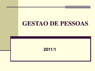 GESTAO DE PESSOAS