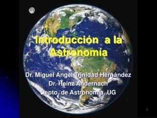 Introducci n  a la Astronom a